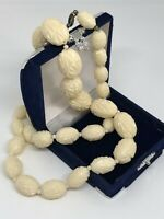 Vintage Necklace Collar Length Graduated Moulded Plastic Beads Pretty Kitsch