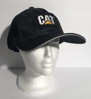 Men's CAT Caterpillar Brand Black Adjustable Strapback Hat One Size GUC
