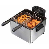 Hamilton Beach 35036 Professional Home 12 Cup 2 Basket Electric Deep Fat Fryer