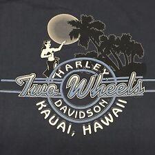 Harley Davidson T-Shirt Hawaii Beach Sunset Biker Motorcycle Bar Eagle 2-sided