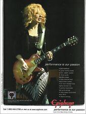Heart Nancy Wilson 2005 Epiphone Les Paul Ultra guitar ad 8 x 11 advertisement