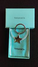 Tiffany Sterling Silver solid star charm key ring