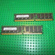 SAMSUNG 4GB 2x2GB 1Rx4 PC2-3200R registered DIMMs lot M393T5660AZ3