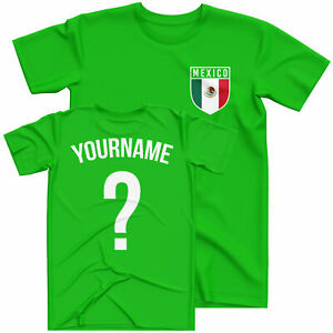 Boys Retro Mexico Football Custom Name And Number T Shirt Football Personalised