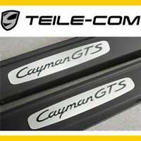 -15% NEU+ORIG. Porsche 718 Cayman GTS 981/982 Einstiegleisten EDELSTAHL Satz L+R