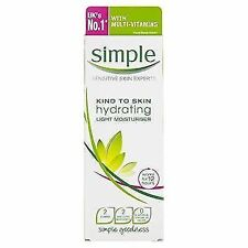 6x Simple Kind to Skin Light Moisturiser Hydrating 125ml