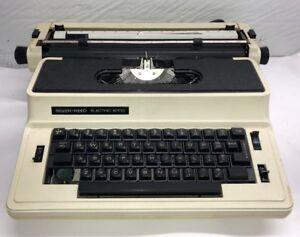 VINTAGE Silver-Reed Electric 8700 Typewriter Original Case- For Parts Or Repair