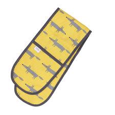 Scion Mr Fox Doppel Topfhandschuh gelb Kochen Backen Küche grau Aufhängen