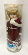 """Christina Porcelain Doll 16"""" Victorian Christman EPI International Vintage New"""