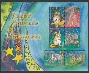 Botswana 2010 Night Animals MNH Block