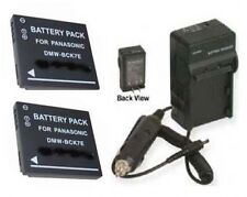 TWO 2x Batteries + Charger for Panasonic DMC-FH25V FH27K FH27R