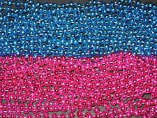 12 DOZEN PINK/BLUE MARDI GRAS BEADS-PARTY-BABY SHOWER