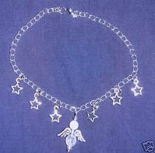 PRETTY ANKLET WITH YOUR GUARDIAN ANGELS IN THE STARS