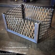 Coal Basket Charcoal Wood Basket Oklahoma Joe Longhorn BBQ Reverse flow highland