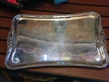 Plateau en Argent Massif 900 Sterling Silber Perles