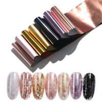 7 Colors/Kit Holographic Nail Foils Nail Art Transfer Sticker Pink Nail Stickers