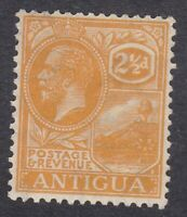 Antigua 1921 to 1929 - 2 and 1/2d Orange - SG72 - Mint Hinged (E16H)