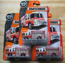 LOT OF 3  MATCHBOX  HAZARD SQUAD FIRE TRUCK FDNY