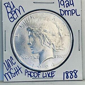 1924 BU GEM SILVER PEACE DOLLAR COIN #1888 FREE SHIPPING UNC MS+++