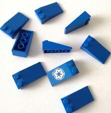 LEGO 9X BRICK SLOPE CURVI INCLINATI 2X4 BLU LOTTO SET KG SPED GRATIS SU+ACQUISTI