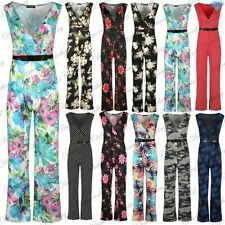 Viscose Floral Sleeveless Jumpsuits & Playsuits for Women