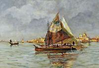 Marco Walter VON VARUTTI-KLEFENHAUSEN 1917 - 1989 - Boote vor Venedig