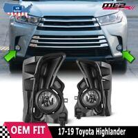 2017 2018 Toyota Highlander Fog Light Kit w/ Wiring, Switch, and Bezels