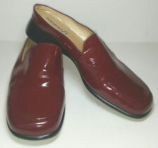 Diana Ferrari Supersoft red leather upper flat slip on shoes Womans Size 8.5