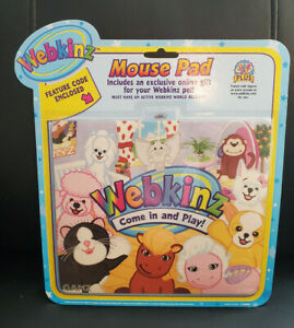 """Webkinz """"Hanging at the Pad"""" Mouse Pad  with Feature Code New/Sealed"""