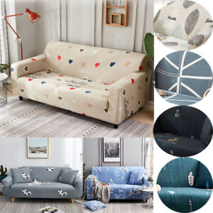 Stretch Sofa Cover Couch Loveseat Elastic Floral Slipcover for 1/2/3/4 Seat YR