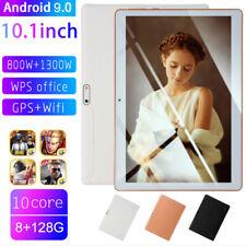 "Plata 10.1"" Tableta Android 9.0 8+128GB WiFi Google 2 Cámara Tablet PC"