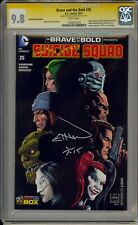 BRAVE AND THE BOLD #25 - CGC 9.8 - WIZARD VARIANT SIGNED VAN SCIVER -1330912024