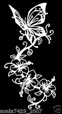 Butterfly White Vinyl Graphic Decal Car Window Sticker Funny