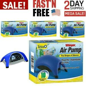 Whisper Air Pump Tetra Water Fish Tank Aquarium 10 40 60 100 Gallons Filter New