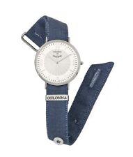Colonna Orologio con polsino sartoriale jeans. Cassa Acciaio 41mm Art.C2200JS