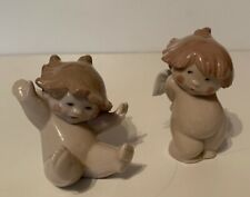 Nao Pair Of Cherub Figurines