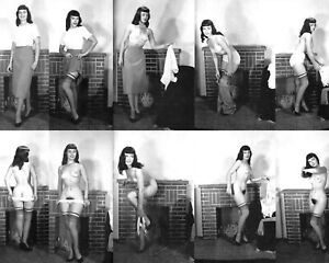 BETTIE PAGE The Queen of Pinups / True B&W Paper Classic Matte 8x10 Nr 167