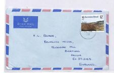 BQ42 1978 Ascension Island Air Mail Cover Devon Great Britain PTS