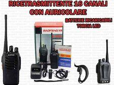RICETRASMITTENTE RADIO 16 CANALI RICARICABILE ANTENNA FLESSIBILE BAOFENG BF-888S