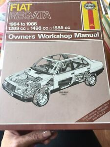 Haynes - Fiat Regata 1984 To 1986 Owners Workshop Manual - Used Condition - 1st