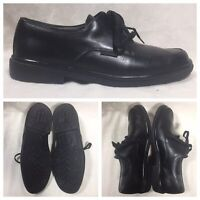 MEPHISTO Air Jet Mens 10 US Oxford Apron Casual Shoes Black Leather Laced