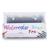 25pcs Watercolor Brush Pens Set Water Paint Markers Coloring Drawing Calligraphy