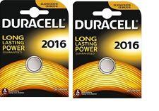 Envoi avec suivi DURACELL 2 piles CR2016 Lithium   3V DLC 2024