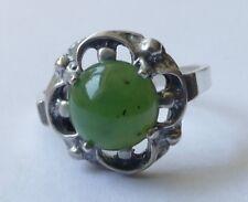 Designer Ring Jade Cabochon 835 Silber Modernist Vintage 70er ring silver