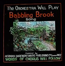 Magic Lantern Slide BABBLING BROOK SONG C1922 MOVIE THEATRE INTERLUDE