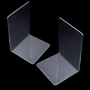 Cancelleria Ferma Libri Set Acrilico Plastica Trasparente Stand Cremagliera