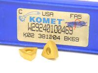 10 NEW SURPLUS KOMET W29 24010.0469 CARBIDE INSERTS WOEX 05T304-01BK69