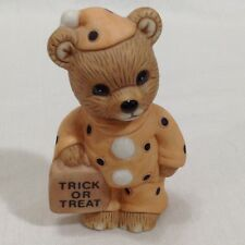 Halloween 2.5 Ceramic Bear Dressed In Orange Clown Suit Trick or Treat Home Co