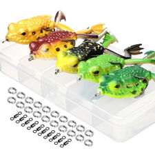 Lot 5pcs Soft Frog Lure 6cm 16g Snakehead Bait Topwater Simulation Fishing Lures