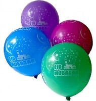 EID MUBARAK BALLOONS HELIUM QUALITY ALL AROUND PRINT 10 BALLONS MIXED COLOURS